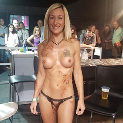Sexpo JHB 2017 - Nude Girls, Blonde, Public Exhibitionist, Flashing, Public Place, Shaved