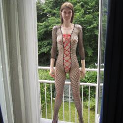 Balcony - Big Tits, Brunette, Lingerie, Amateur