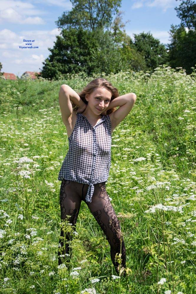 Pic #2 Emma Strolling Through The Fortress - Nude Girls, Big Tits, Public Exhibitionist, Flashing, Outdoors, Public Place, Bush Or Hairy, Amateur