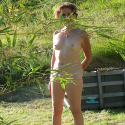 Lawn Ornament - Nude Amateurs, Outdoors, Bush Or Hairy