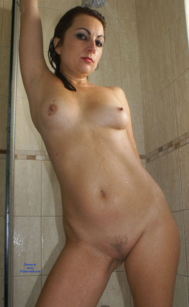 Pic #5 Anna (39) In The Shower - Nude Girls, Brunette, Bush Or Hairy, Amateur