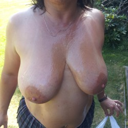 Large tits of a neighbor - vicky