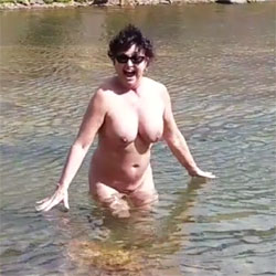 Skinny Dipping At 12,000' - Nude Wives, Big Tits, Brunette, Outdoors, Amateur