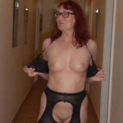 Summer Hollyday - Big Tits, Public Exhibitionist, Flashing, Lingerie, Public Place, Redhead, Shaved