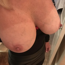 Large tits of my wife - wifey's 34d's