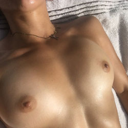 Bare Breasts In Backyard - Big Tits, Outdoors, Amateur, Natural Tits