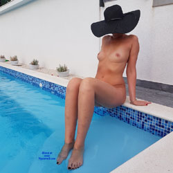 Sitting Naked At The Pool - Firm Tits, Full Nude, Hard Nipple, Nude Outdoors, Water, Hot Girl, Naked Girl, Sexy Body, Sexy Feet, Sexy Figure, Sexy Girl, Sexy Legs, Amateur