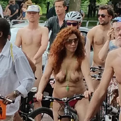 Naked Breasts - Outdoors, Public Place