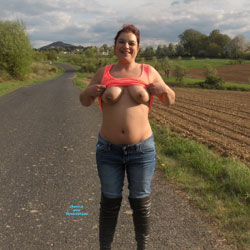 Pierced Tits - Big Tits, Outdoors, Redhead, Amateur