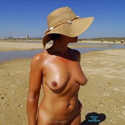 Frontal nude wife sucking titty on beach gorgeous