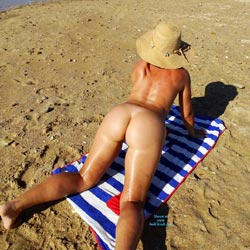 Getting Some Sun - Nude Amateurs, Beach, Outdoors, Shaved