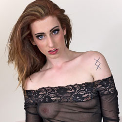 Redhead In See Through - Big Tits, Firm Tits, Hard Nipple, Nipples, Red Hair, Redhead, See Through, Tattoo, Hot Girl, Sexy Body, Sexy Boobs, Sexy Face, Sexy Girl, Amateur