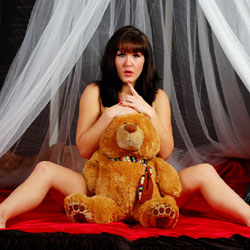 Fun With Teddy! - Brunette, Amateur