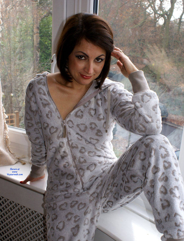 Pic #1 Anna (39) Making A Onesie Look Sexy - Nude Amateurs, Small Tits, Brunette