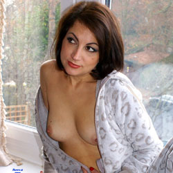 Anna (39) Making A Onesie Look Sexy - Nude Amateurs, Small Tits, Brunette