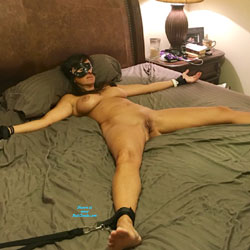 Bondage Fun - Nude Amateurs, Big Tits, Brunette, Shaved, Toys