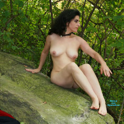 After A Few Beers The Clothes Came Off - Nude Amateurs, Big Tits, Brunette, Outdoors, Nature, Body Piercings