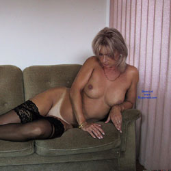 Black Stocking Only   - Nude Girls, Big Tits, Blonde, Lingerie, Shaved