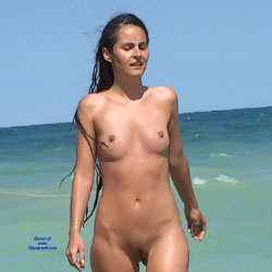 Sexy Naturist - Nude Girls, Brunette, Beach Voyeur, Outdoors