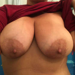 My very large tits - Beach Babe