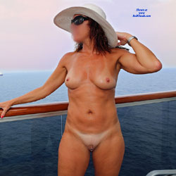 Nude On The Cruise Ship Balcony - Nude Amateurs, Big Tits, Shaved