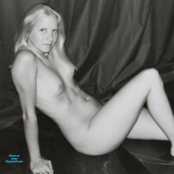 My Sweet Susi In Black And White! - Nude Amateurs, Blonde, Small Tits
