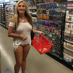 Shopping - Big Tits, Public Exhibitionist, Flashing, Public Place, Body Piercings, Shaved