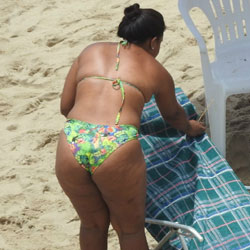 Big Ass From Recife City, Brazil - Big Ass, Brunette, Outdoors, Bikini Voyeur, Beach Voyeur