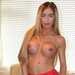 Blonde In Red Lingerie - Big Tits, Blonde Hair, Erect Nipples, Firm Tits, Hard Nipple, Nipples, No Panties, Perfect Tits, Showing Tits, Hot Girl, Sexy Body, Sexy Boobs, Sexy Face, Sexy Girl, Sexy Legs, Sexy Lingerie, Sexy Woman