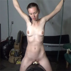 Pixel Rides The Motorbunny While Tied - Nude Girls, Brunette, Toys