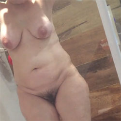 Wife Washing  - Nude Wives, Big Tits, Bush Or Hairy, Amateur