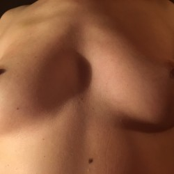 Medium tits of a neighbor - Linda