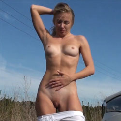 Nude Near Country Road - Nude Girls, Outdoors, Shaved, Amateur