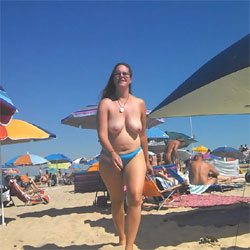 First Time Nude Beach - Beach, Big Tits, Brunette, Outdoors