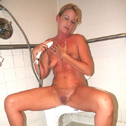 Shower Seat - Nude Girls, Shaved, Firm Ass