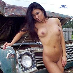 Junkyard Trucks - Nude Girls, Big Tits, Brunette, Outdoors, Shaved