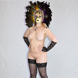 Venetian Masks And Stockings - Wives In Lingerie, Big Tits, High Heels Amateurs, Shaved
