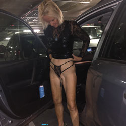 Outside In New Outfit - Blonde, Public Exhibitionist, Outdoors, Public Place, Amateur