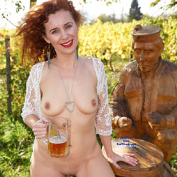 Drinking Beer Naked In Outdoor - Exposed In Public, Firm Tits, Hard Nipple, Naked Outdoors, Nipples, Nude In Nature, Red Hair, Red Lips, Redhead, Shaved Pussy, Stockings, Hot Girl, Sexy Body, Sexy Boobs, Sexy Face, Sexy Figure, Sexy Girl, Sexy Legs, Sexy Woman