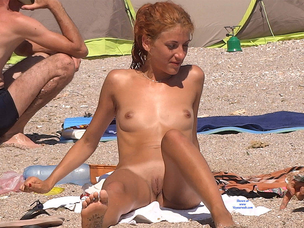 Pic #2 Red Haired Beauty - Nude Girls, Beach, Outdoors, Redhead, Shaved, Firm Ass, Beach Voyeur