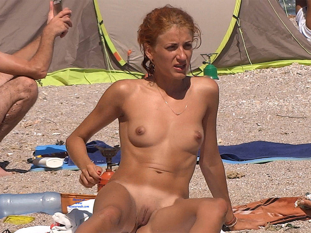Pic #3 Red Haired Beauty - Nude Girls, Beach, Outdoors, Redhead, Shaved, Firm Ass, Beach Voyeur