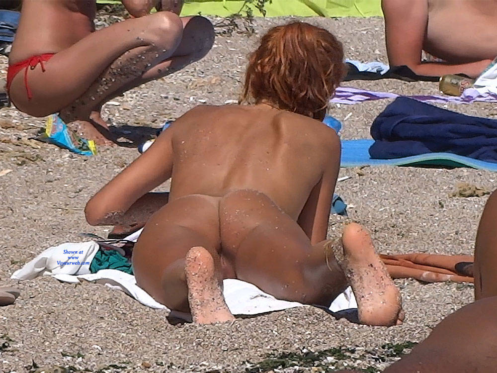 Pic #5 Red Haired Beauty - Nude Girls, Beach, Outdoors, Redhead, Shaved, Firm Ass, Beach Voyeur