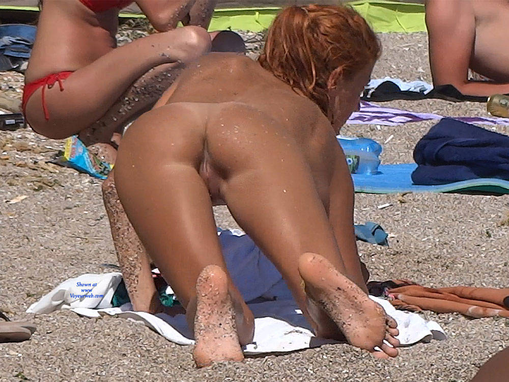 Pic #6 Red Haired Beauty - Nude Girls, Beach, Outdoors, Redhead, Shaved, Firm Ass, Beach Voyeur