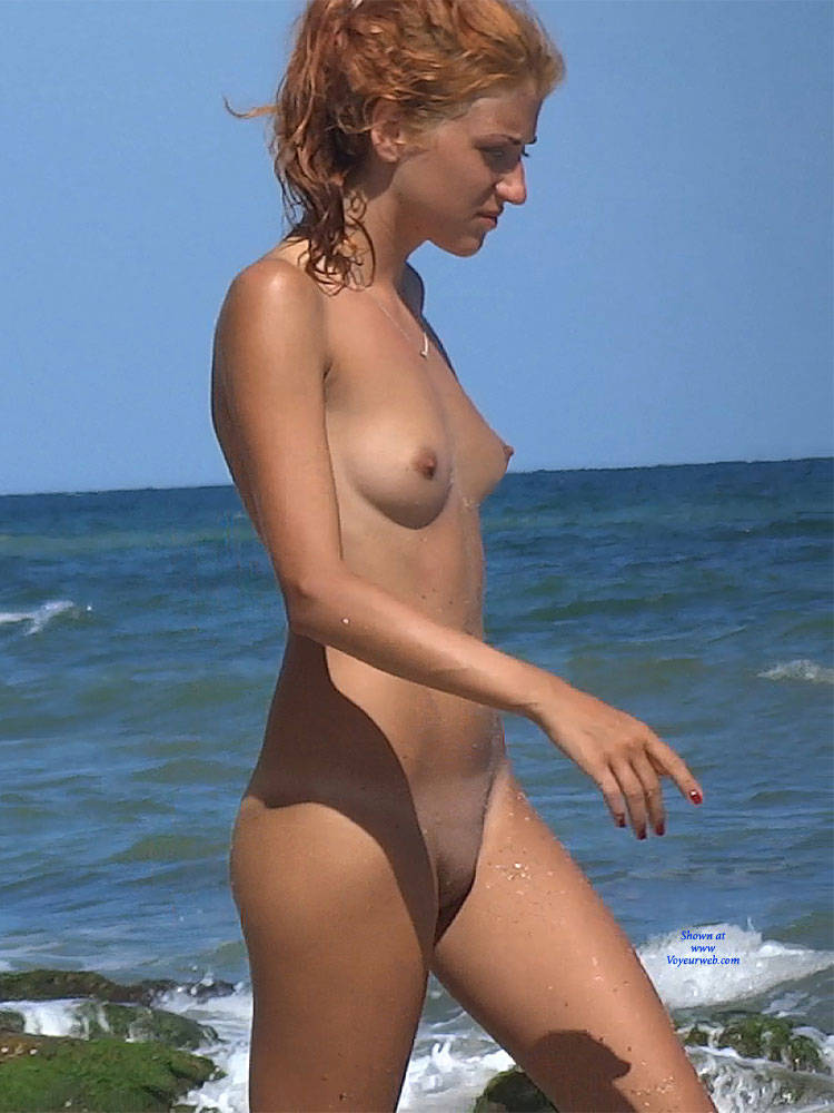 Pic #7 Red Haired Beauty - Nude Girls, Beach, Outdoors, Redhead, Shaved, Firm Ass, Beach Voyeur