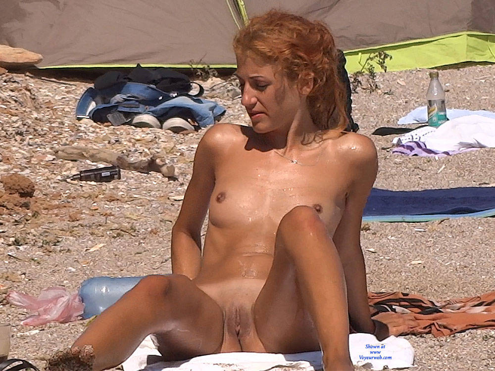 Pic #9 Red Haired Beauty - Nude Girls, Beach, Outdoors, Redhead, Shaved, Firm Ass, Beach Voyeur