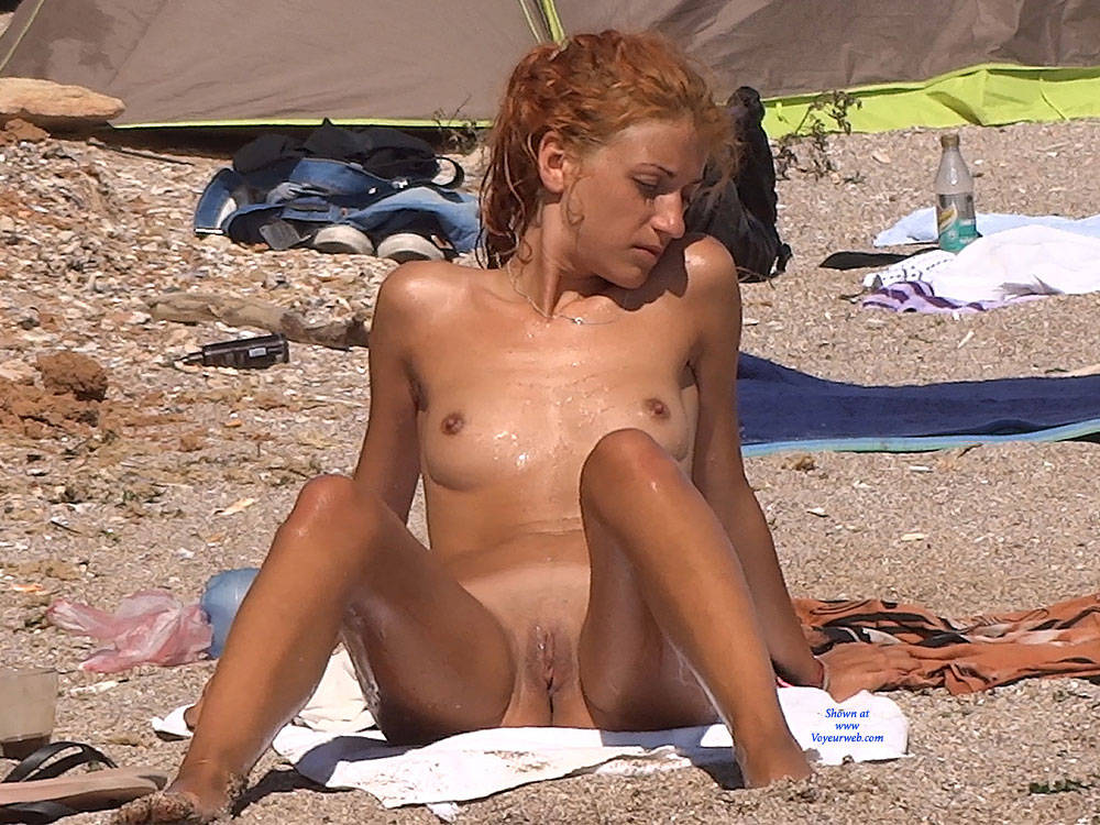 Pic #10 Red Haired Beauty - Nude Girls, Beach, Outdoors, Redhead, Shaved, Firm Ass, Beach Voyeur