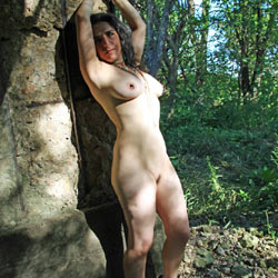 Under An Old Railroad Trestle - Nude Amateurs, Big Tits, Brunette, Outdoors, Bush Or Hairy