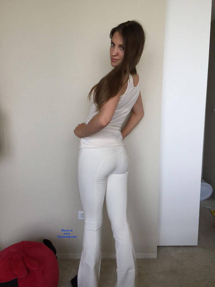 Pic #1 Natalie Stripping Down - Brunette, Lingerie, Amateur, Firm Ass
