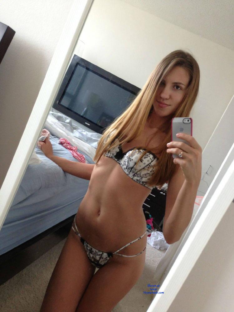 Pic #2 Natalie Stripping Down - Brunette, Lingerie, Amateur, Firm Ass