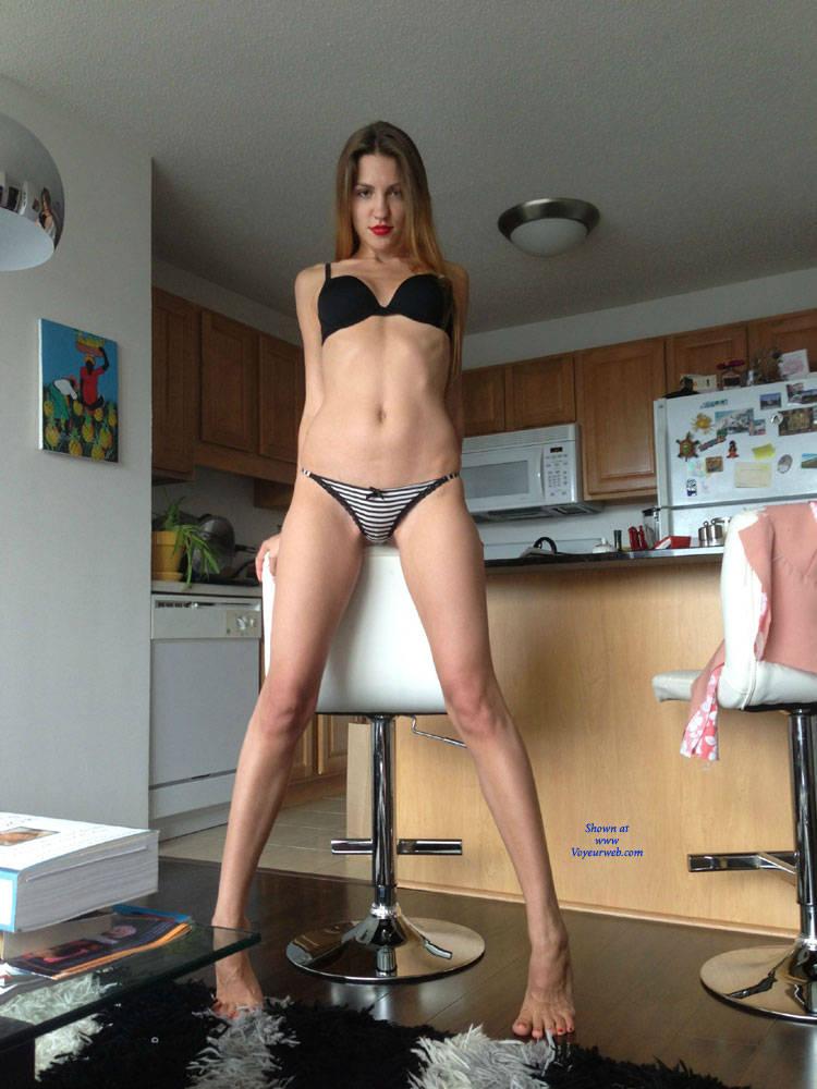 Pic #9 Natalie Stripping Down - Brunette, Lingerie, Amateur, Firm Ass